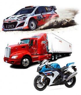 Autos, camiones y motos