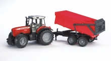 BRUDER 02045 MASSEY FERGUSON 7480 WITH TIPPING TRAILER