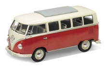 WELLY 12531 W-RED 1962 VW CLASSIC BUS BLACK OR DARK GREEN OR RED