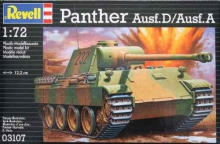 REVELL 03107 PANTHER AUSF D AUSF A 1:72