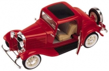 ROAD 92248 FORD 1932 3 WINDOW 1:18 RED BLUE OR GOLD