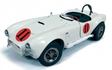 AUTOWORLD 104 1:18 SHELBY COBRA W/RACING GRAPHICS 65 (ELVIS)
