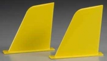 AQUACRAFT AQUB9300 VERTICAL FINS YELLOW UL-1 SUPERIOR