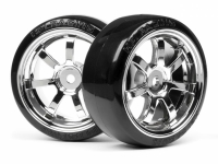 HPI 4739 26MM T-DRIFT-RAYS 57S WHEEL CHROME (2)