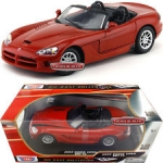 MOTORMAX 73137 2003 DODGE VIPER SRT-10 SILVER OR RED 1:18