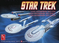 AMT 660 1:2500 STAR TREK SET 3 N 1 NC1701/1701A/1