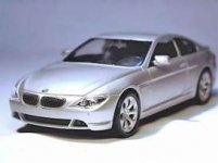 WELLY 22457 2004 BMW 645 CI, SILVER OR BROWN-RED