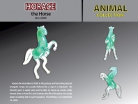 GLASS 20009 HORACE HORSE