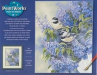 DIMENSIONS 91361 CHICKADEES LILAC PBN 11X14