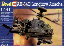 REVELL 04046 1:144 AH 64 D LONGBOW APACHE ARMED COMBAT HELICOPTER