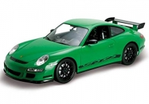 WELLY 22495 2007 PORSCHE GT 3 RS BLACK , WHITE OR GREEN