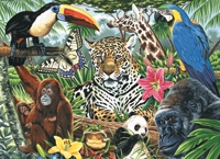 ROYAL PCL3 ZOO MONTAGE PBN LG CANVAS
