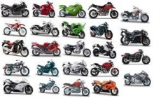 MAISTO 35300 1:18 MOTORCYCLE BLISTER CARD