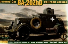 ACE 72210 1:72 BA 20 M ZHD ARMORED CAR ( RAILROAD VERSION )