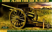 ACE 72252 1:72 76.2MM (3 INCH) SOVIET GUN MODEL 1902/1930 CAÑON (WITH LIMBER)