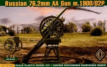 ACE 72265 1:72 3 INCH RUSSIAN WW1 AA GUN (WITH LIMBER) ON IVANOVS AA GUN MOUNT