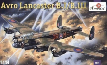 AMODEL 1411 1:144 AVRO LANCASTER B.I / B.III ( WITH PHOTO ETCHED PARTS & RUBBER