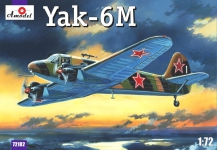 AMODEL 72182 1:72 YAK 6 M WITH SKI GEAR
