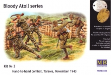 MB 3544 1:35 HAND TO HAND COMBAT, TARAWA, 1943 BLOODY ATOLL SERIES.KIT NO 3