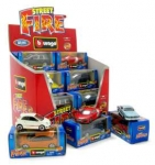 BURAGO 30010 STREET FIRE ASSORTMENT IN A DISPLAY BOX 1:43