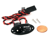 MIRACLE J-004 OVAL SINGLE SWITCH BLACK