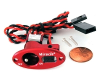 MIRACLE J-004 OVAL SINGLE SWITCH RED