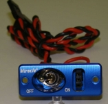 MIRACLE J-005 SQUARE SINGLE SWITCH BLUE