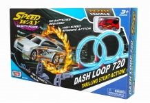 MOTORMAX 76496 DOUBLE LOOP RACE SET W/2PC 3PULG CAR