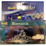 REVELL 65802 MODEL SET BISMARCK 1:1200