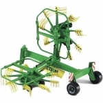 BRUDER 02216 KRONE DUAL ROTARY SWATH WINDROWER