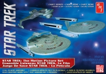 AMT 762 STAR TREK CADET SERIES THE MOTION PIC 3 SHIP SET