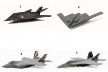 NEWRAY 07227I D/C MINIATURE FIGHTER JET ASSORTMENT
