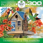 EUROGRAPHICS 8300-0602 TRUMPET VINES & TREE SPARROWS 300 PIEZAS PUZZLE