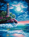 DIMENSIONS 91424 LIGHTHOUSE IN MOONLIGHT PBN