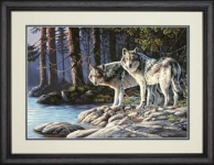 DIMENSIONS 91445 GRAY WOLVES PBN