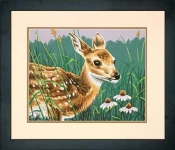 DIMENSIONS 91447 FAWN AND FLOWERS PBN