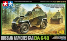 TAMIYA 32576 1:48 RUSSIAN ARMORED CAR BA 64 B