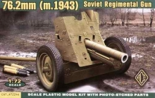 ACE 72244 SOVIET 76MM REGIMENTAL MOD.1943 CAÑON 1:72