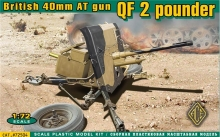 ACE 72504 ORDNANCE QF 2 POUNDER (BRIT.40MM AT GUN) 1:72