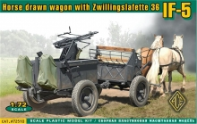 ACE 72510 IF 5 HORSE DRAWN WAGON W/ZWILLINGSLAFETT 1:72