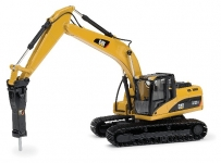 NORSCOT 55282 1:50 CAT 323D L HYDRAULIC EXCAVATOR WITH CAT H120E S HYDRAULIC HAMMER