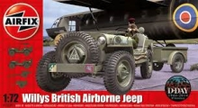 AIRFIX 02339 WILLYS JEEP TRAILER & 6PDR GUN 1:72