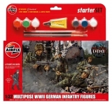 AIRFIX 55210 GERMAN INF 6 M/POSE FIGS CAT 2 1:32