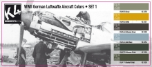 K4 WWII GERMAN LUFTWAFFE AIRCRAFT COLORS SET 1