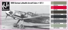 K4 WWII GERMAN LUFTWAFFE AIRCRAFT COLORS SET 2