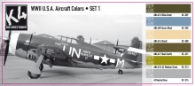 K4 WWII USA AIRCRAFT COLORS SET 1