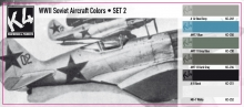 K4 WWII SOVIET AIRCRAFT COLORS SET 2