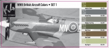 K4 WWII BRITISH AIRCRAFT COLORS SET 1