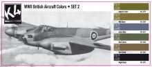 K4 WWII BRITISH AIRCRAFT COLORS SET 2