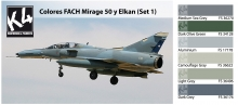 K4 COLORES FACH MIRAGE 50 Y ELKAN SET 1